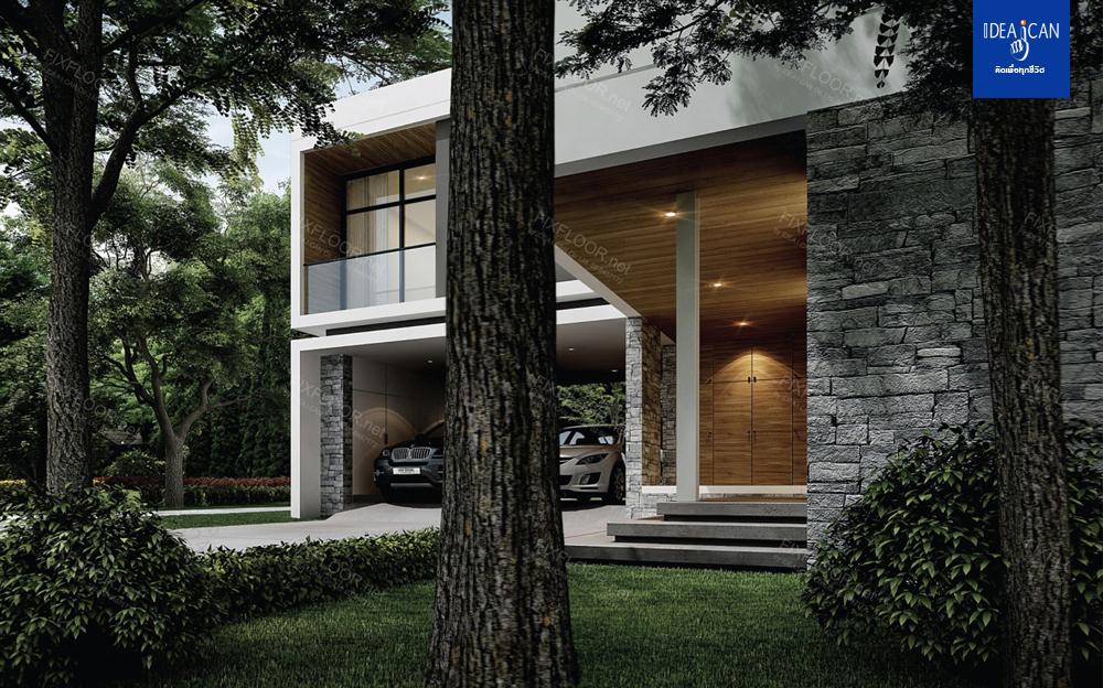 รับสร้างบ้าน, แบบบ้านโมเดิร์น, แบบบ้าน modern, รับสร้างบ้านโมเดิร์น, บริษัทรับสร้างบ้าน, 3D Perspect
