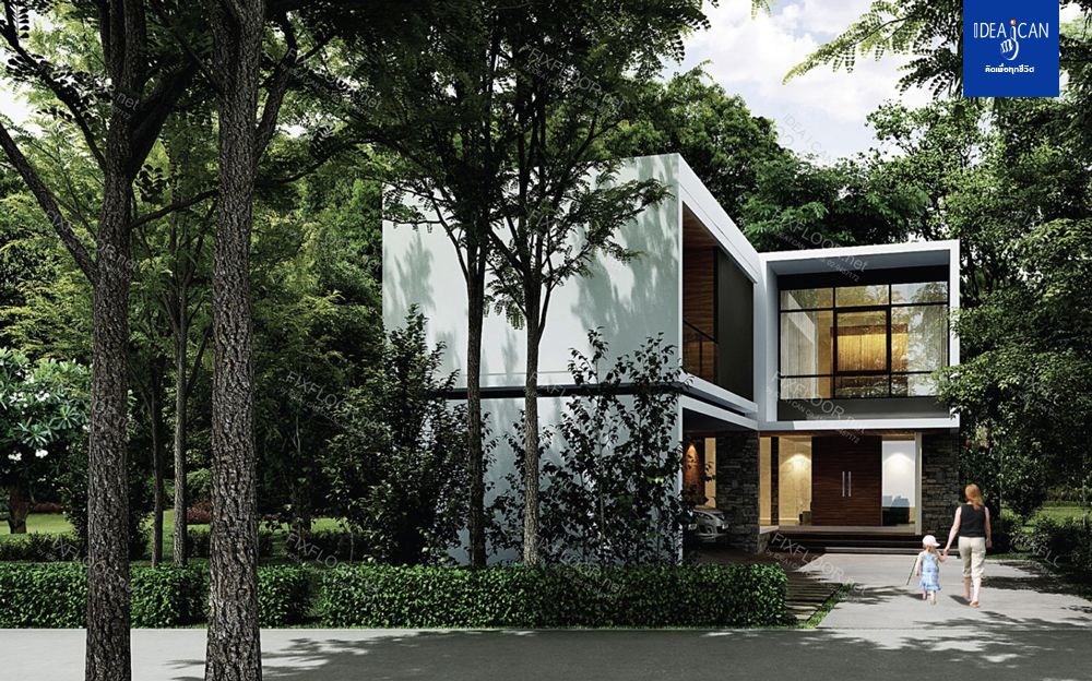 รับสร้างบ้านสองชั้น, แบบบ้านสองชั้น, แบบบ้าน modern style, บริษัทรับสร้างบ้าน, รับสร้างบ้าน, แบบบ้านโมเดิร์น