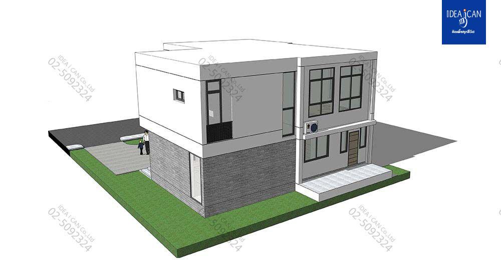 แบบบ้านสองชั้นสไตล์โมเดิร์น, แบบบ้าน 2 ชั้น, แบบบ้าน 4 ห้องนอน, ห้องน้ำสไตล์โมเดิร์น, พื้นที่ใช้สอย 304 ตร.ม., FF-H2-30402.09, แบบบ้านสไตล์โมเดิร์น, แบบบ้านโมเดิร์น, แบบบ้าน modern , รับเหมาก่อสร้าง, รับสร้างบ้าน, รับสร้างบ้านสองชั้น,แบบบ้านสองชั้น