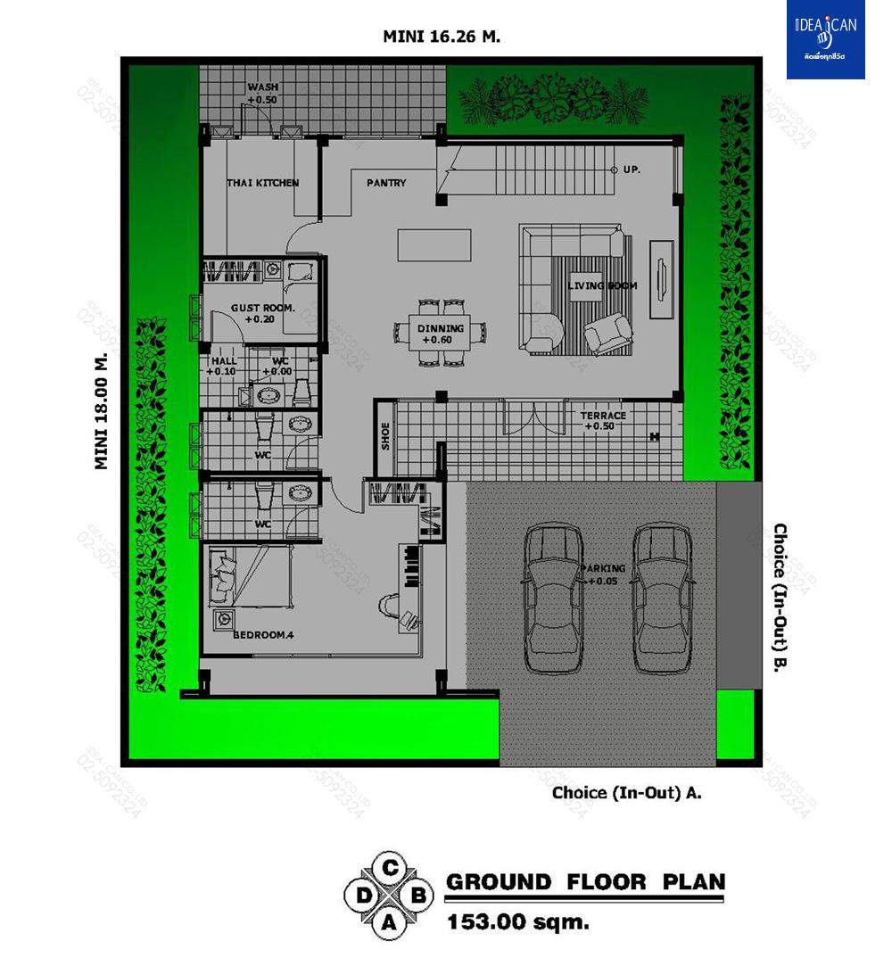 แบบบ้านสองชั้นสไตล์โมเดิร์น, แบบบ้าน 2 ชั้น, แบบบ้าน 5 ห้องนอน, ห้องน้ำสไตล์โมเดิร์น, พื้นที่ใช้สอย 305 ตร.ม., FF-H2-30501.09, แบบบ้านสไตล์โมเดิร์น, แบบบ้านโมเดิร์น, แบบบ้าน modern , รับเหมาก่อสร้าง, รับสร้างบ้าน, รับสร้างบ้านสองชั้น,แบบบ้านสองชั้น