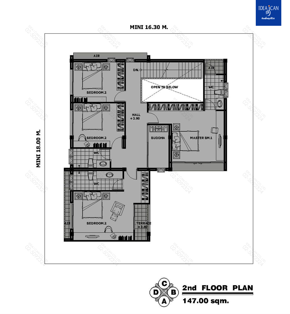 แบบบ้านสองชั้นสไตล์โมเดิร์น, แบบบ้าน 2 ชั้น, แบบบ้าน 5 ห้องนอน, ห้องน้ำสไตล์โมเดิร์น, พื้นที่ใช้สอย 348 ตร.ม., FF-H2-34801.09, แบบบ้านสไตล์โมเดิร์น, แบบบ้านโมเดิร์น, แบบบ้าน modern , รับเหมาก่อสร้าง, รับสร้างบ้าน, รับสร้างบ้านสองชั้น,แบบบ้านสองชั้น